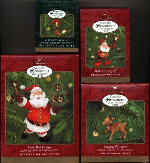 4 Hallmark Ornaments ~ 2000 Membership