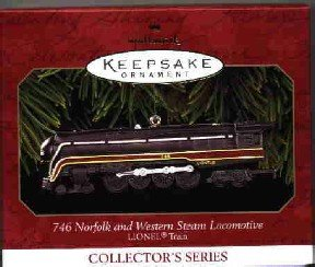 Hallmark Ornament ~ 746 Norfolk & Western Steam Locomotive 1999 ~ Lionel