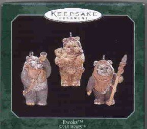 Hallmark Miniature Ornament ~ Ewoks 1998 ~ Star Wars ~ set of 3