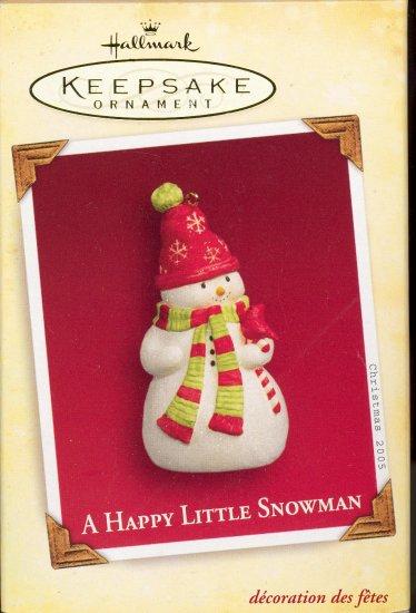 Hallmark Ornament ~ A Happy Little Snowman 2005