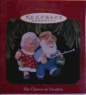 Hallmark Ornament ~ Clauses on Vacation 1997 ~ Clauses on Vacation series