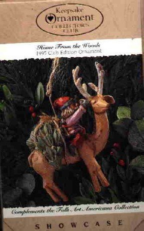 Hallmark Ornament ~ Home From The Woods 1995 ~ Folk Art
