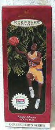 Hallmark Ornament ~ Magic Johnson 1997 ~ Hoop Star series