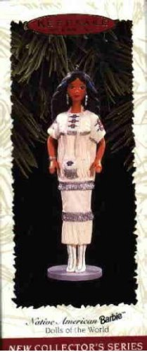 Hallmark Ornament ~ Native American Barbie 1996 ~ Dolls of the World series