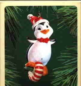 Hallmark Ornament ~ Peppermint Penguin 1983