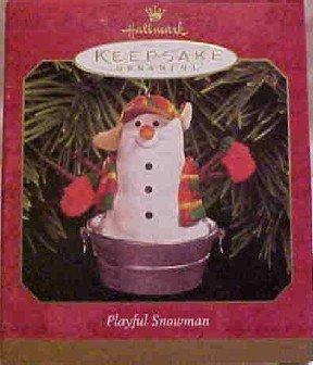 Hallmark Ornament ~ Playful Snowman 1999