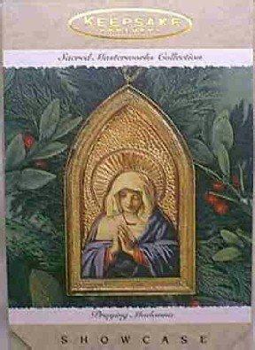 Hallmark Ornament ~ Praying Madonna 1996 ~Showcase Ornament