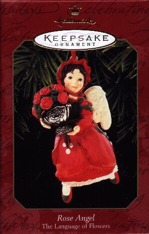Hallmark Ornament ~ Rose Angel 1999 ~ Language of Flowers series