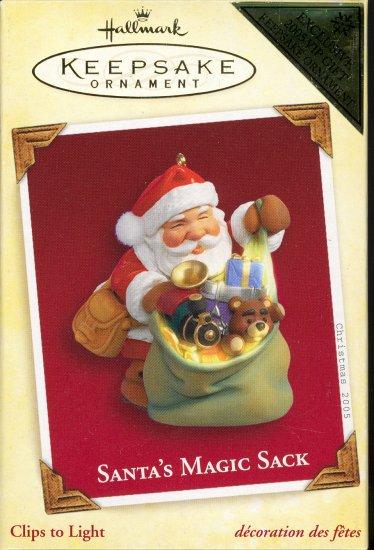 Hallmark Ornament ~ Santa's Magic Sack 2005