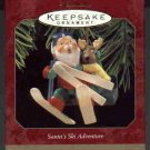 Hallmark Ornament ~ Santa's Ski Adventure 1997