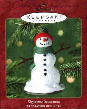Hallmark Ornament ~ Signature Snowman 2000 ~ Exclusive