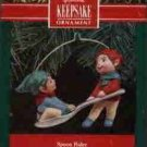 Hallmark Ornament ~ Spoon Rider 1990 ~ 2 elfs