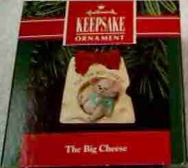 Hallmark Ornament ~ The Big Cheese 1991 ~ mouse