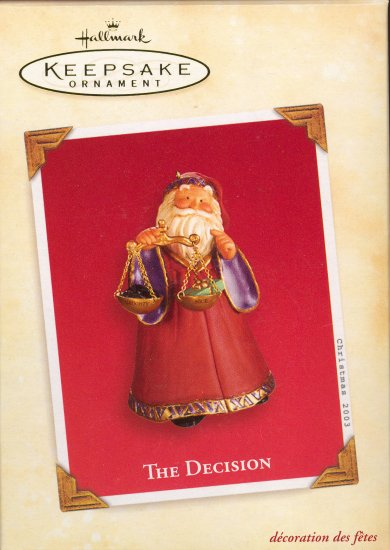 Hallmark Ornament ~ The Decision 2003
