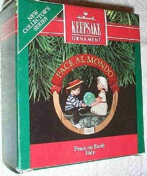 Hallmark Ornament ~ Peace on Earth - Italy 1991 ~ Peace on Earth series