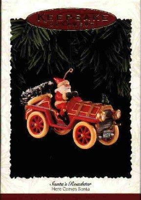 Hallmark Ornament ~ Santa's Roadster 1995 ~ Here Comes Santa series