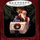 Hallmark Ornament ~ Santa's Golf Cart 1999 ~ Here Comes Santa series