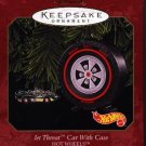 Hallmark Ornament ~ Jet Threat Car with Case 1999 ~ Hot Wheels