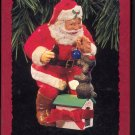 Hallmark Ornament ~ Playful Pals 1993 ~ Santa Puppy and a Coke