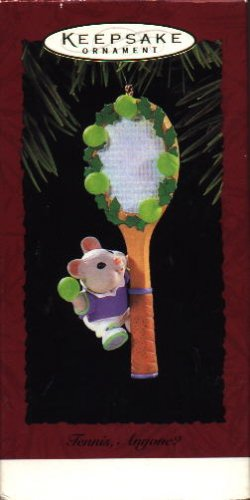 Hallmark Ornament ~ Tennis Anyone? 1995 ~ mouse & tennis racket