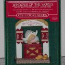 Hallmark Ornament ~ Vrolyk Kerstfeest 1986 ~ Windows of the World series