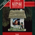 Hallmark Ornament ~ Nollaig Shona ~ Irish 1990 ~ Windows of the World series