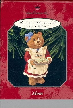 Hallmark Ornament ~ Mom 1998 ~ Bear & Cookies