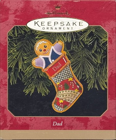 Hallmark Ornament ~ Dad 1999 ~ Gingerbread