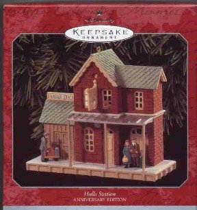 Hallmark Ornament ~ Halls Station 1998 ~ Nostalgic Houses and Shops compliment