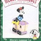 Hallmark Merry Miniatures ~ Minnie's Luggage Car 1998 ~  Mickey Express
