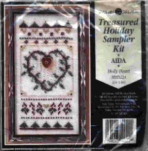 Holly Heart ~ Cross-Stitch & Bead Kit