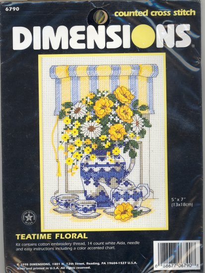 Teatime Floral ~ Cross-Stitch Kit