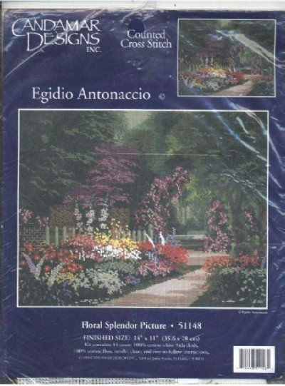 Floral Splendor Picture ~ Cross-Stitch Kit