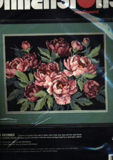 Pink Peonies ~ Needlepoint Kit