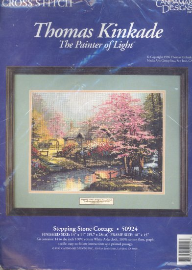 Stepping Stone Cottage ~ Thomas Kinkade ~ Cross-Stitch Kit