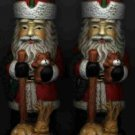 2 Santa & Reindeer Candle Holders