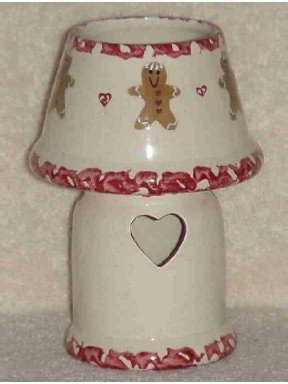 Ceramic Glazed Gingerbread Votive Candleholder