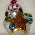 Let it Snow ~ Snowman Blown Glass Ornament