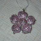 Victorian Pink Rhinestone Flower Ornament