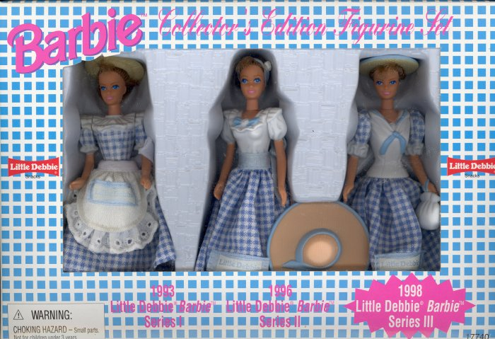 Little Debbie ~ 1997 Barbie Collector's Edition Figurine Set ~ series III