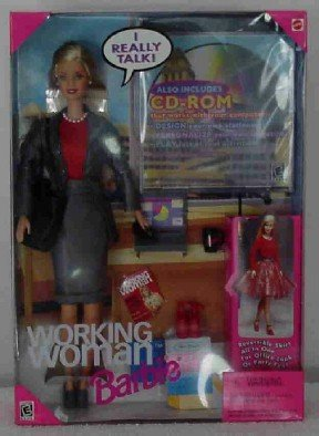 Working Woman Barbie ~ comes with a CD-ROM & much more