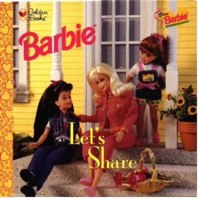 Dear Barbie Let's Share Book ~ 1997 ~ Mint