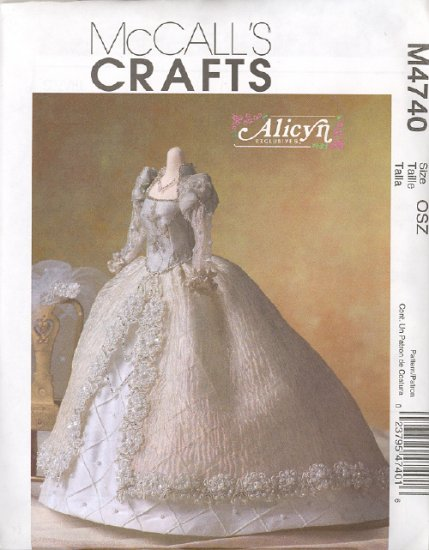 Barbie Sewing Pattern ~ McCall's M4740 ~ Alicyn Wedding