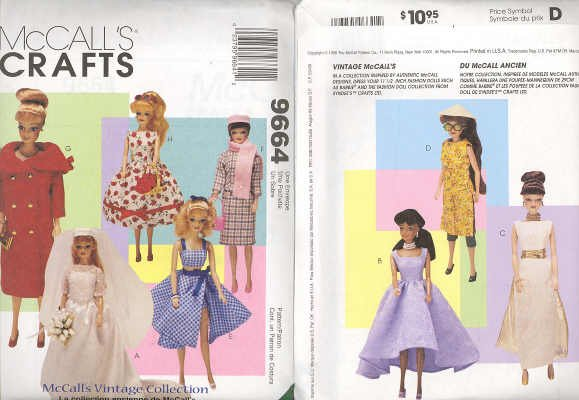 Barbie Sewing Pattern ~ McCall's 9664