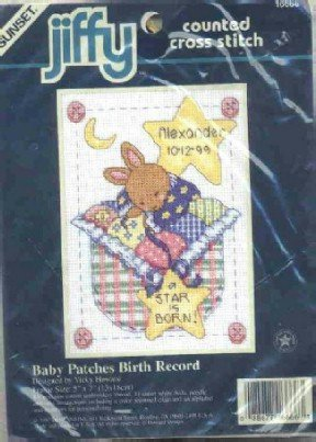 Baby Patches Birth Record ( Bunny ) ~ Cross-Stitch Kit