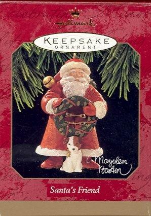 Hallmark Ornament ~ Santa's Friend 1997 ~ Marjolein Bastin