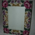 Pink Rose Needlepoint Frame 5 x 7