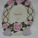 Victorian Pink Roses and Tassels Picture Frame