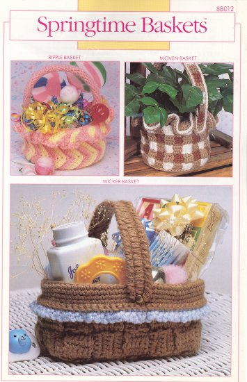 3 Springtime Baskets Crochet Pattern ~ Annie's Attic