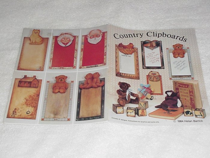 Country Clipboards ~ Decorative Painting Booklet ~ 1984